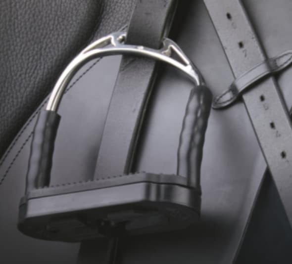 Bow Balance stirrup on saddle