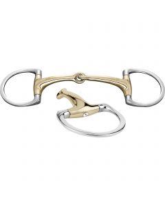 Dynamic RS Olivenkopfgebiss mit D-förmigem Ring 16 mm einfach gebrochen - Sensogan mit Swarovski® Kristall