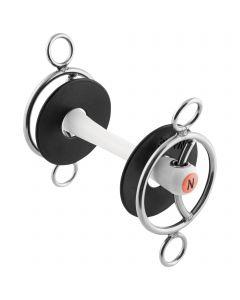 Nathe 3-Ring Gebiss mit Gleitsteg 20 mm mit biegsamer Stange