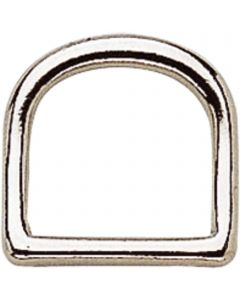 D-Ring, bent - German Silver, 20 mm clear width