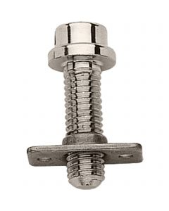 Screw 10 mm with threaded plate - German Silver, 10 mm thread diameter