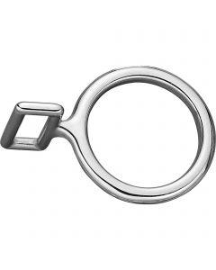 Neck strap ring - Stainless steel, 38 mm clear width, 26 mm eye width