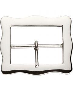 Buckle - brass nickel plated, 60 mm clear width