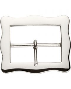 Buckle - brass nickel plated, 60 mm clear width
