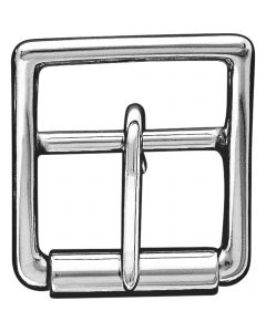 Double buckle with roller - Stainless steel, 25 mm clear width