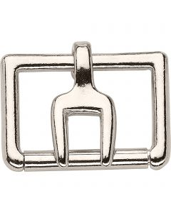 Buckle with fork tongue - German Silver, 45 mm clear width