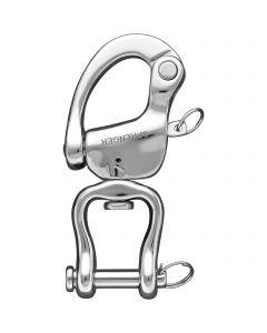 HS-Patentverschluss für Marathon (gegossen) mit Sicherungsstift - Edelstahl rostfrei, Länge 130 mm, lichte Weite 20 mm