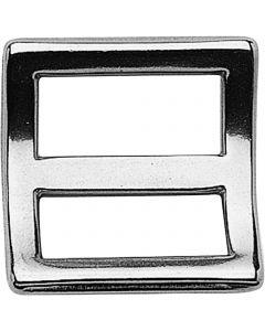 Rein slide - Stainless steel, 25 mm clear width