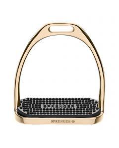 FILLIS-Steigbügel gold - mit schwarzer Einlage - Edelstahl rostfrei