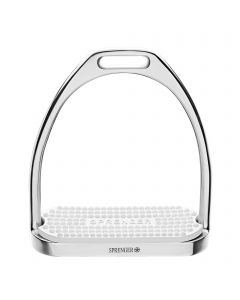 FILLIS Stirrups - Stainless steel, with white rubber pad