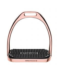 FILLIS Stirrups - Stainless steel rosegold , size 120 mm with black rubber pad