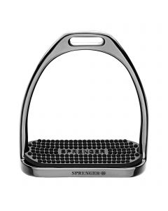 FILLIS Stirrups - Stainless steel anthracite , size 120 mm with black rubber pad