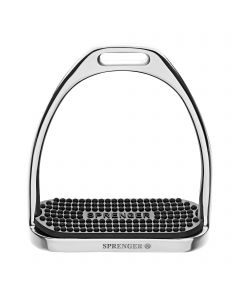 FILLIS Stirrups - Stainless steel, with black rubber pad