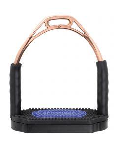 Bow Balance Steigbügel - Edelstahl rostfrei bronze, 120 mm Trittweite