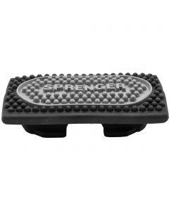 Stirrup pads for Flexcite Stirrups - Rubber black / silver, size 120 mm