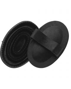 Rubber curry comb for children - Rubber black, Measures 130 x 80 mm