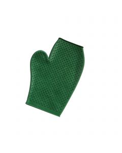 Grooming glove - rubber with pimples (colours assorted), Measures 235 x 115 mm
