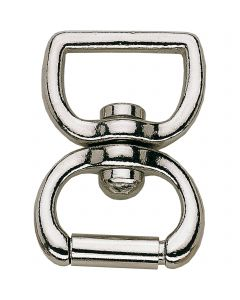 Lunge swivel - brass nickel plated, 23 mm clear width