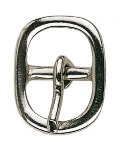 Buckle for spur straps - German Silver highly polished, 14 mm clear width