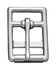Double girth buckle with roller