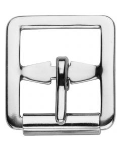 Stirrup leather buckle with roller - Stainless steel