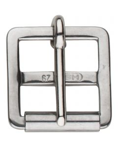 Girth buckle with roller