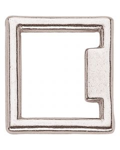 Halter square - brass nickel plated, 36 mm clear width