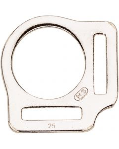 Halter square - Steel nickel plated, 25 mm clear width