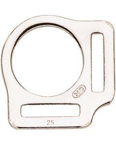 Halfterring, gestanzt - Stahl vernickelt, lichte Weite 25 mm
