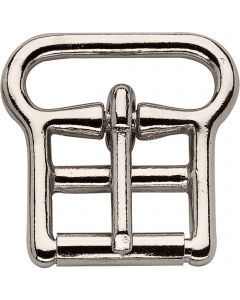 Buckle with 1 mm roller - German Silver, 28 mm clear width