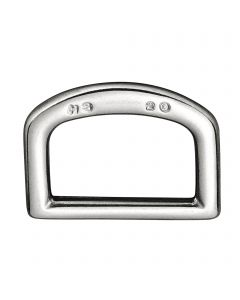 D-Ring, punched - Stainless steel, 20 mm clear width