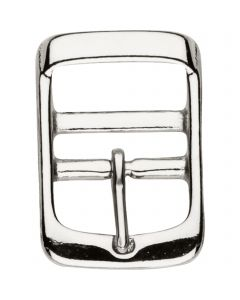 Schnalle für Deckengurte mit Doppelsteg und fixiertem Dorn - Stahl vernickelt, lichte Weite 27 mm