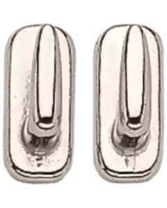 Hook stud - German Silver,  measures 8 x 18 mm