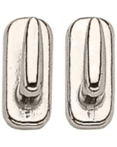 Hook stud - German Silver,  measures 8 x 18 mm