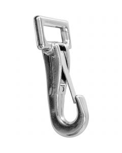 Snap hook - Neverrust highly polished, 26 mm clear width,  length 87 mm