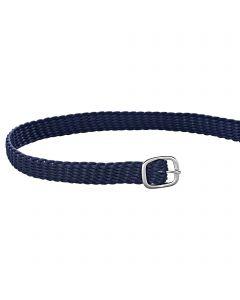 Sporenriemen - 45 cm, Perlon blau, Schnalle silber