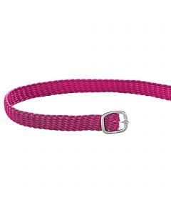 Sporenriemen - 45 cm, Perlon pink, Schnalle silber