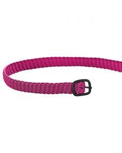 Sporenriemen - 45 cm, Perlon pink, Schnalle anthrazit