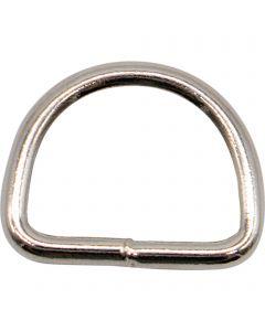 D-Ring, geschweißt - Stahl vernickelt
