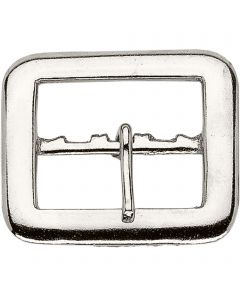 Buckle - Steel nickel plated, 50 mm clear width