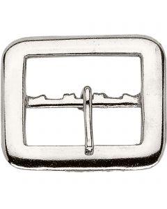 Buckle - Steel nickel plated, 50 mm clear width