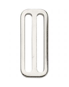 HS Surcingle attachment, slide - Steel nickel plated, 50 mm clear width