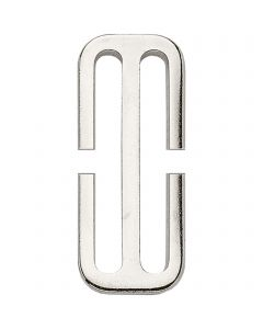 HS Surcingle attachment, slide (cutted) - Steel nickel plated, 50 mm clear width