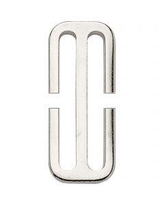 HS Schieber, geschlitzt (für Deckengurt) - Stahl vernickelt, lichte Weite 50 mm