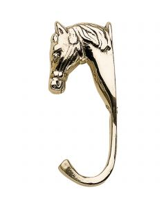 Horse head, small - brass polished,  length 10,5 cm