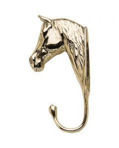 Pferdekopfhaken, groß - Messing poliert, Länge 14,5 cm