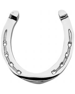 Decorative horse shoe - brass chrome plated,  measures 12,5 x 13 cm
